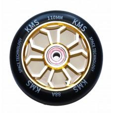 Колесо 110мм KMS для трюковых самокатов форма медуза цв. бензин