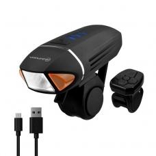 Велофонарь на руль Briviga EBL-3310 с поворотниками USB 450 люмен. Диод CREE XM-L2, световой поток 450 лм. Встроенный аккумулятор ёмкостью 1800 мАч. Дистанционное управление.