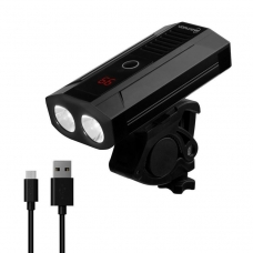 Велофонарь на руль Briviga EBL-3605 USB 900. Два диода CREE XM-L2, световой поток 900 лм. Встроенный аккумулятор ёмкостью 5200 мАч.