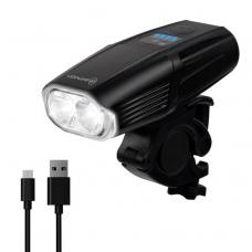 Велофонарь на руль Briviga EBL-3606-2T6 USB 600 люмен. Два диода T6 LED, световой поток 600 лм. Встроенный аккумулятор ёмкостью 2000 мАч.