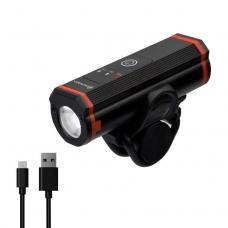 Велофонарь на руль Briviga EBL-3608B USB 400 люмен. Диод T6 LED, Световой поток 400 лм. Встроенный аккумулятор 2200 мАч. Алюминиевый корпус.