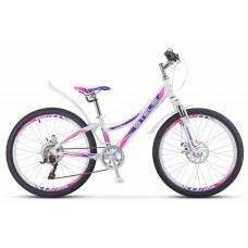 Подростковый велосипед 24 Stels Navigator 430 MDбелый-пурпурный