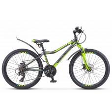 Подростковый велосипед 24 Stels Navigator 420 MD черно-зеленый