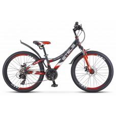 Подростковый велосипед 24 Stels Navigator 440 MD,серый-красный