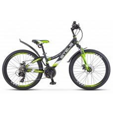 Подростковый велосипед 24 Stels Navigator 440 MD,серый /зеленый