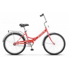 Дорожный велосипед Stels Pilot 710 цвет: фиалковый/красный