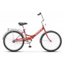 Складной велосипед Stels Pilot 710 цвет: синий/красный