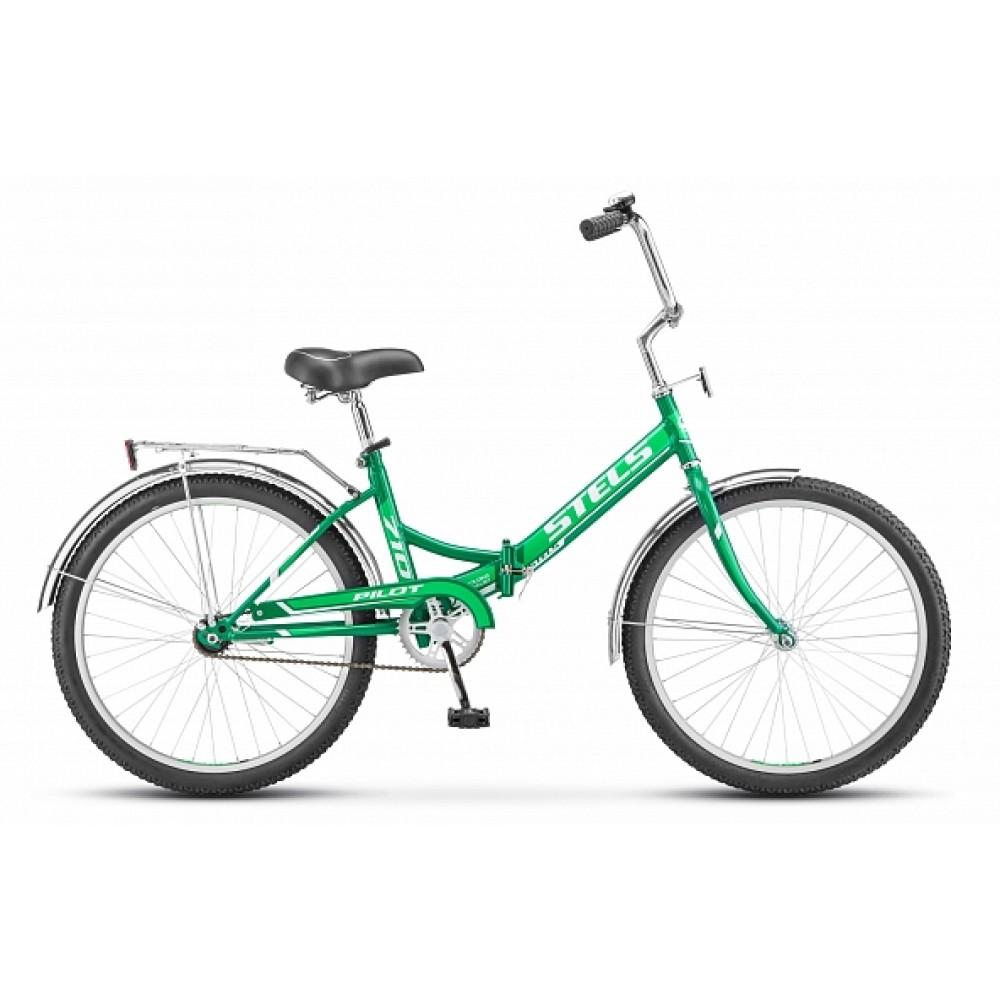 Складной велосипед Stels Pilot 710 цвет: зеленый