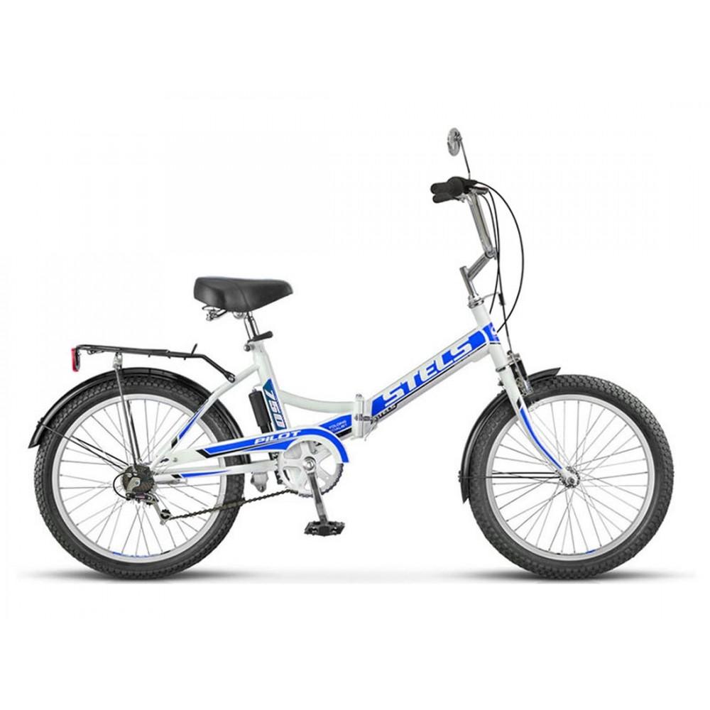 Складной велосипед Stels Pilot 750 цвет: Бело-синий