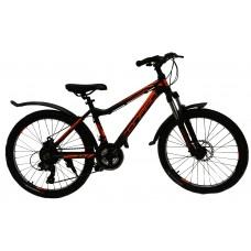 Подростковый велосипед 24 CONRAD EMDEN 3.0 MD Matt Black/Orange  (2021)