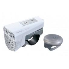 Фара передняя Topeak SoundLite USB с гудком, White