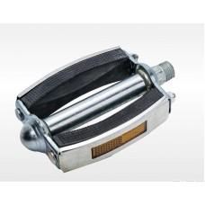 Педаль метало-резиновая овальная в метал. Окантовке