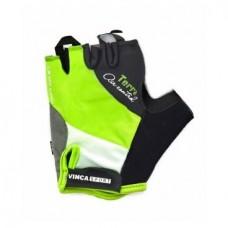 Перчатки VG933 гелевые TERRA зеленые с белым