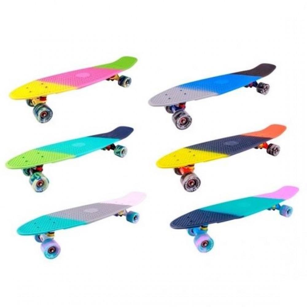 Скейтборд пластиковый Tricolor 27 1/6 TSL- 402M