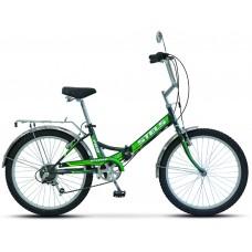 Складной велосипед Stels Pilot 750 цвет: Черно-зеленый